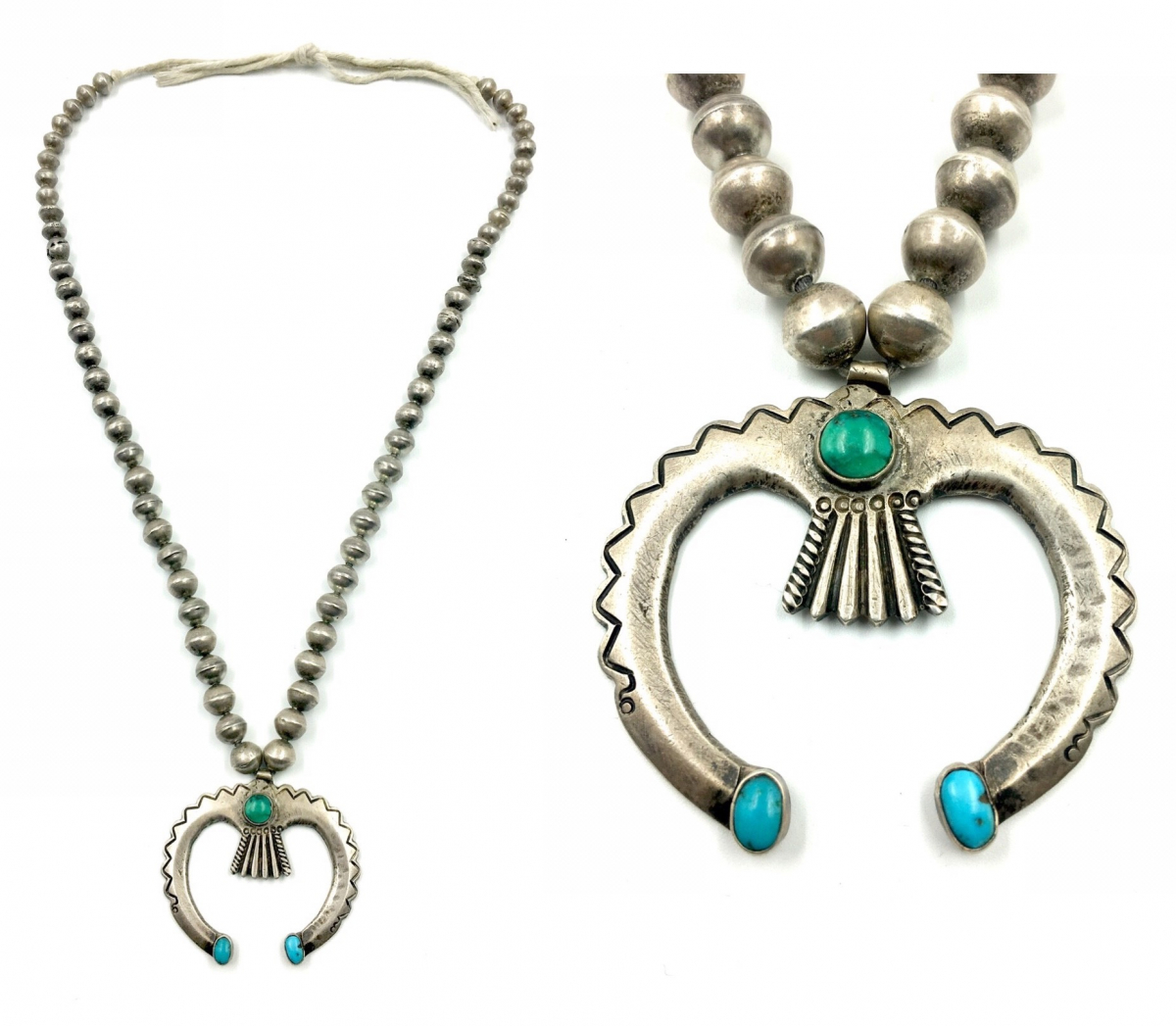 circa 1910-20 silver and turquoise naja