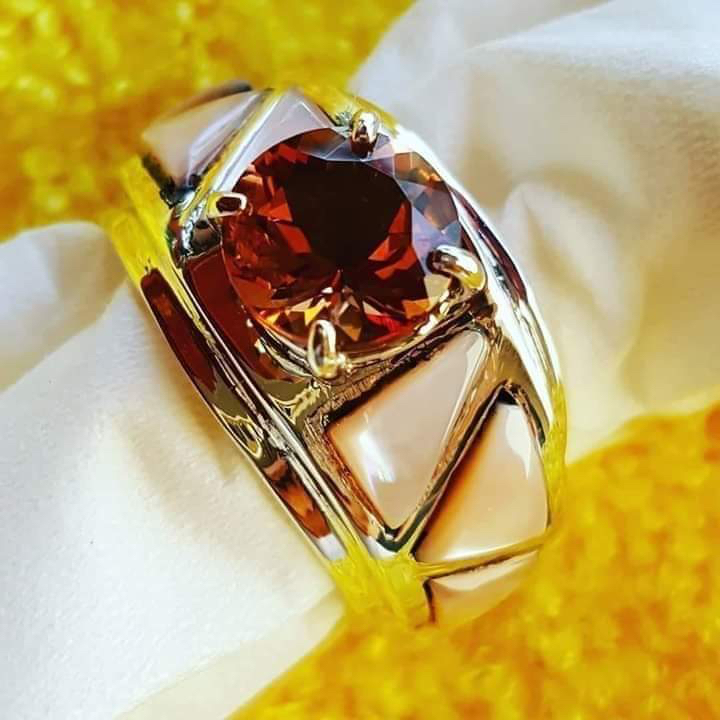 Head Turning High Grade Morganite Center Stone and Inlay Ring