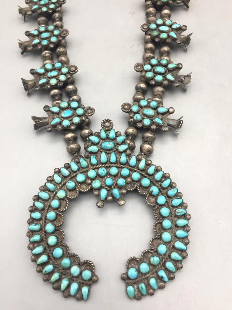 Vintage Cluster Squash Blossom Necklace - Lot 230 in the November 14th Auction | Western Trading Post