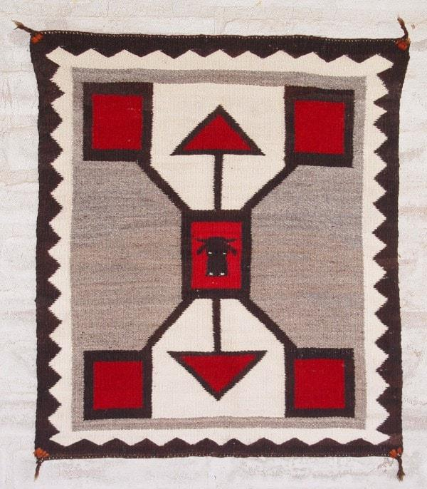 Storm Pattern Pictorial Single Saddle Blanket : Historic : GHT 2065 : Circa 1900-1910