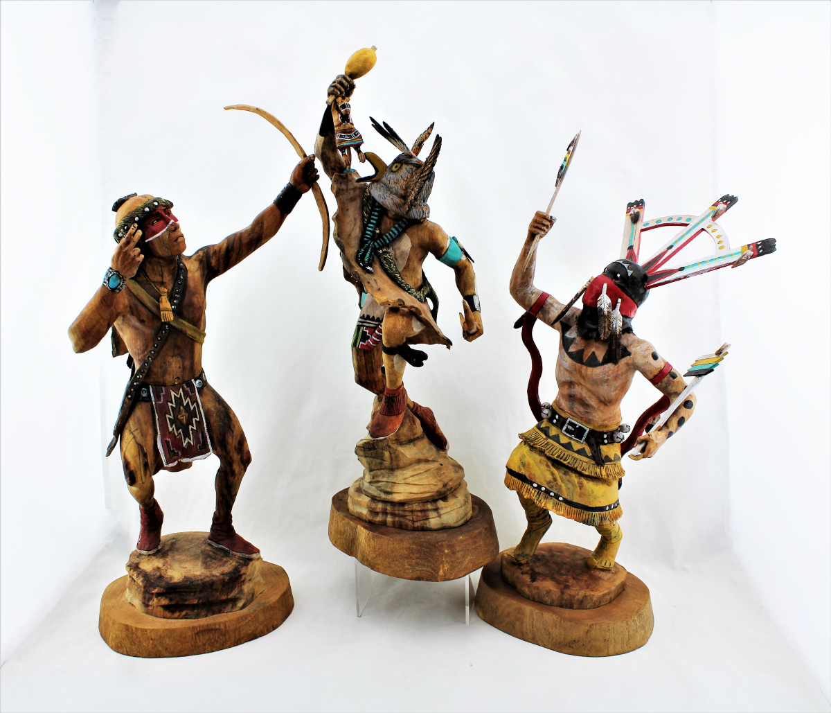 Trio of Kachinas