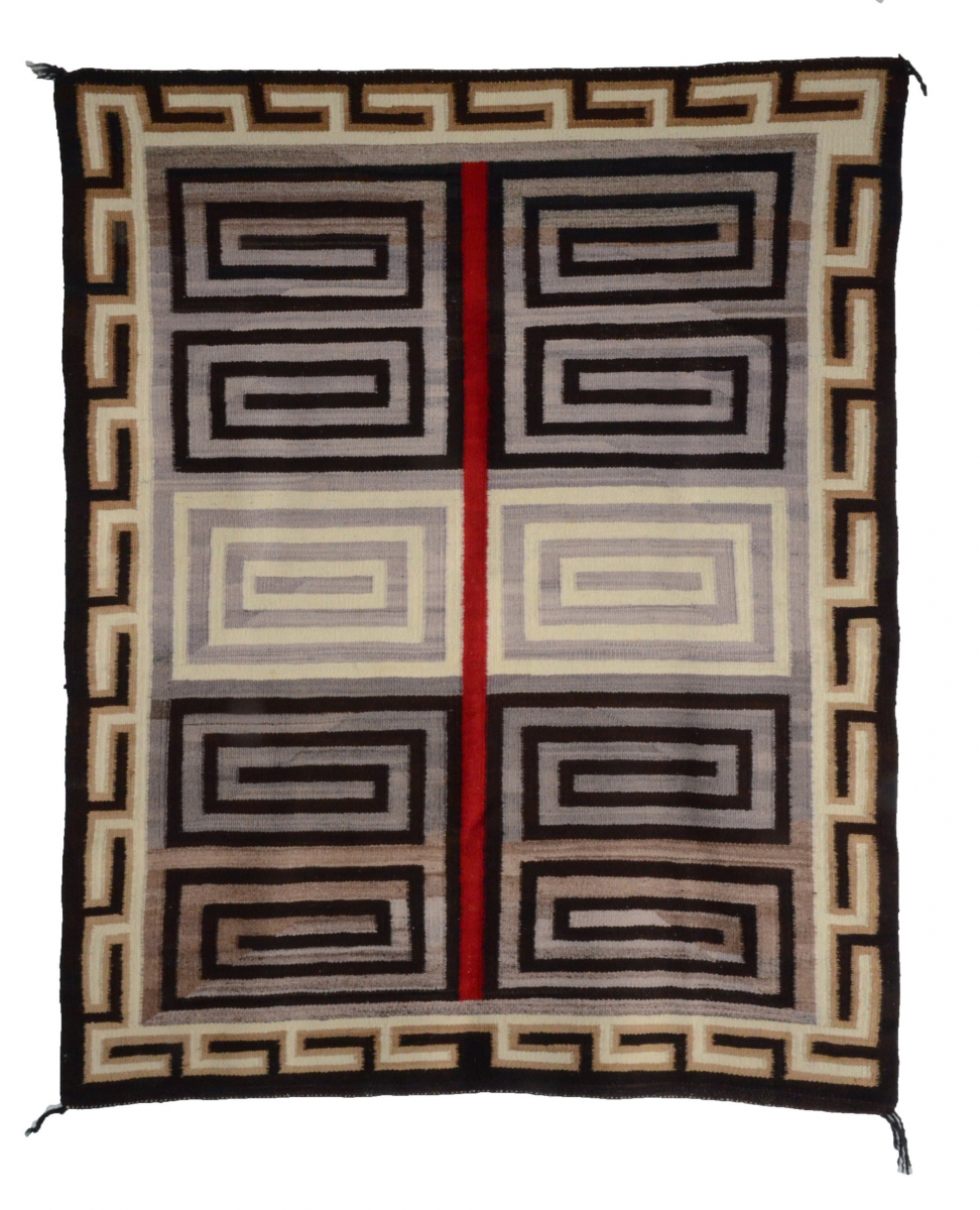 Optical-Bistie Navajo Rug : Historic : GHT 252 : Circa 1920's