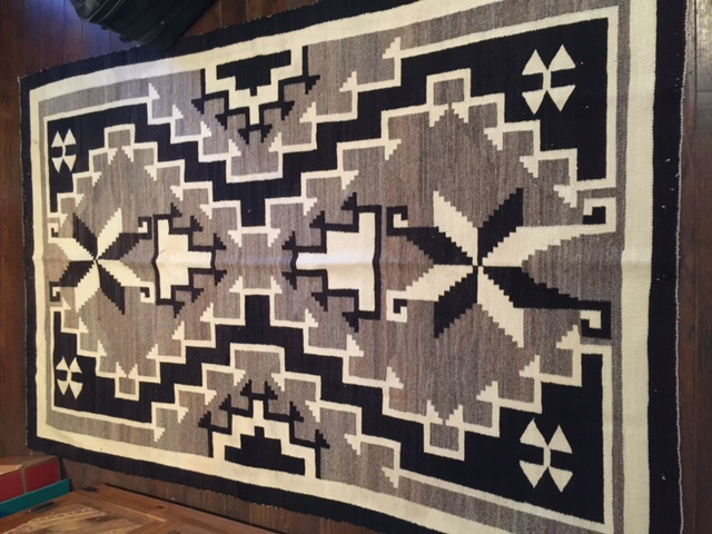 1930's Hubbell Rug from the Copper Valley-Two Grey Hills Area